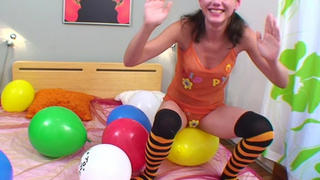 Balloon popping video