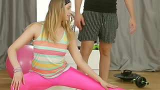 Teen seduced by her personal coach
