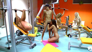 Gym sex with 4 teens