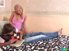 shaved blond teen fucked
