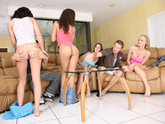18yo teens playing strip poker