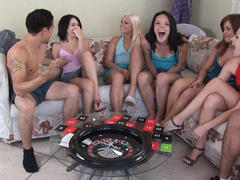 nice amateur in orgy on party