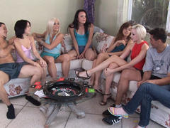 pretty amateur in hot orgy on party
