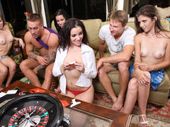 hot amateur in orgy on party