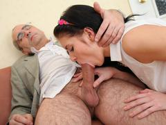 Tricky old teacher is at it again. This time he's giving Angelica a good seeing to