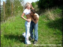 amateur getting penetrated outside
