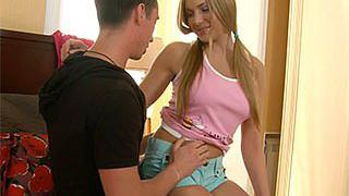Juicy teen banged