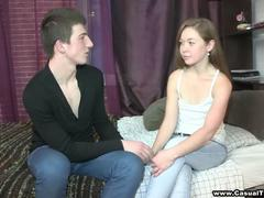 Curious teen explores casual sex